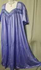 ANKLE LENGTH  LIGHT PURPLE SHORT SLEEVE NIGHT GOWN PLUS SIZE 5X GIFT