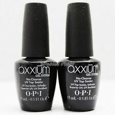 LOT 2 - OPI Axxium Gel System NO Cleanse UV Top Sealer Coat 15mL/ 0.5oz AX 212