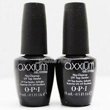 LOT 2 - OPI Axxium Gel System NO Cleanse UV Top Sealer Coat 15mL/ 0.5oz AX 212
