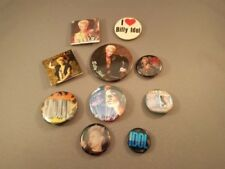 10 Billy Idol square and round pins lot.  I love Billy Idol. Free Shipping
