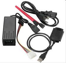 IDE SATA HDD drive adapter cable converter USB 2.0 to 2.5/3.5 with power cord CA