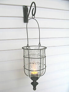 Lantern With Wall Bracket Antique Grey Finish Lantern New Free Delivery
