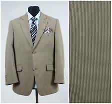 UK 42 Mens Striped Sports Jacket STUDIO COLETTI Beige Blazer SIZE L Large