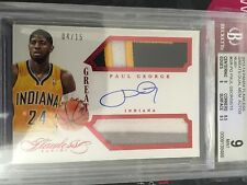 2013-14 Panini Flawless Paul George Greats Dual Patch Auto Bgs 9 10Auto
