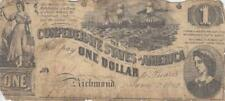 1862, Confederate States: $1.00 Note, Kr #39, Good (30444)
