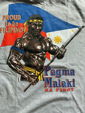 FILIPINO STRENGTH shirt tee pagma malaki na pinoy proud t-shirt m MEDIUM lt gray