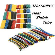 140Pcs/328Pcs Polyolefin Heat Shrink Sleeve Tubing Tube Cable Assortment Set Kit