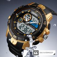 SKMEI Men's Digital Military Sport Quartz Alarm Date 50M Waterproof Wrist Watch