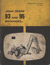 Buy tractor manualshandbooks ebay original john deere 93 95 tractor backhoes operators manual fandeluxe Image collections