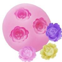 3D Flowers Shape Silicone Fondant Soap Cake Mold Cupcake Baking Tools