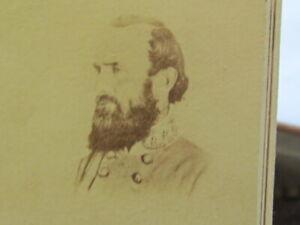 Confederate Civil War General Stonewall Jackson Baltimore Maryland cdv photo