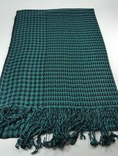 New Tassel Green Scarf Long Wrap Women Shawl Lady Stole Houndstooth From Taiwan