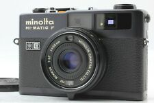 [Fast Neu] Minolta Hi-Matic F Entfernungsmesser Schwarz Modell Rokkor 38mm Aus