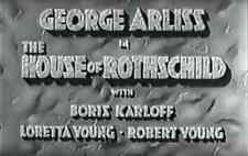 The house of Rothschild, Classic Film from 1934  on DVD-R