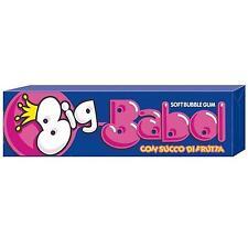 12 BLISTER DA 5 GOMME DA MASTICARE BIG BABOL FRAGOLA BOX CHEWING GUM BUBBLE GUM