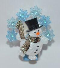BATH & BODY WORKS BLUE SNOWFLAKE SNOWMAN NIGHTLIGHT WALLFLOWER FRAGRANCE PLUG IN