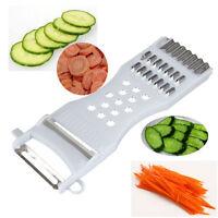 5in1 Gurke Karotte Kartoffelschneider Schäler Reibe Obst Gemüse Cutter * QZ