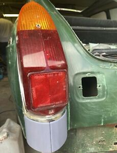 MGB / MGB GT Rear Light Smoother Cowls X2 (Rubber to chrome bumper conversion)