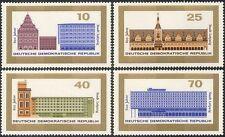 Alemania 1965 Leipzig/Town Hall/Torre del Reloj/Arquitectura/edificios 4 V Set n43607
