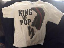 Michael Jackson Classic White King Of Pop Shirt Medium Shoes Tiptoe Pose