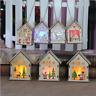 LED Light Wood HOUSE Mini Christmas Tree Hanging Ornaments Party Decoration