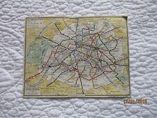 plan de métro parisien année 50 Edition Spéciale