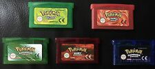 Pokemon Game Boy Advance 5 Games Bundle FireRed Sapphire Leaf Green Ruby Emerald