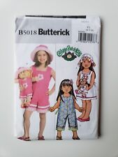 Butterick Pattern B5018 Girl Dress Romper Doll Clothes CabbagePatch Size 6 7 8