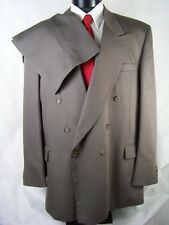 Raffinati Suit Mens Brown Double Breasted Size 48L