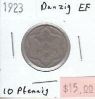 Danzig 10 Pfennig 1923 XF Extra Fine - iii