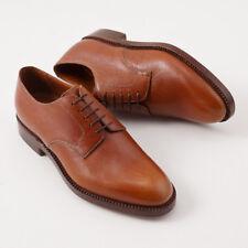 NIB $3600 SILVANO LATTANZI Light Brown Pebble Grained Leather Derby US 9 Shoes