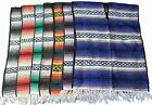 Adult Economy Striped Mexican Falsa Blanket PONCHO pancho costume pullover