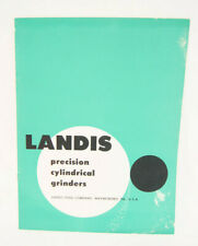Landis Precision Cylindrical Grinders Machine Shop Brochure Cg 62
