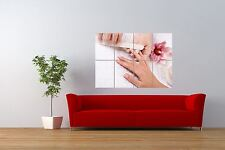 PHOTOGRAPH BEAUTY SALON SPA NAILS MANICURE GIANT ART PRINT POSTER NOR0874