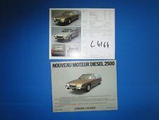 C.4164 / catalogue CITROEN CX 2500 D modéle 78