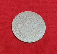 Morocco Maroc Scarce 5 Dirham 1/2 RIAL Hassan 1st 1312 AH PARIS Silver Coin