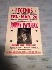 JOHNNY PAYCHECK CONCERT POSTER