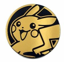 OtBG x1 Pikachu Gold No hands Large Promo Pokemon Flip Coin TCG Official
