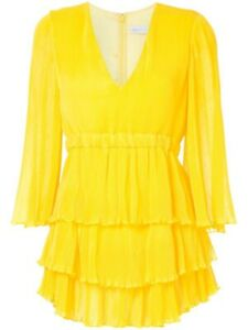 Alice McCALL And Then You Kissed Me Mini Dress - Canary Yellow UK 8
