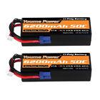 2x 11.1V 6200mAh 3S LiPo Battery Hard case EC5 for RC Arrma Kraton Talion Mojave