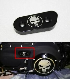 Skull Chain Inspection Cover Guard For Harley Sportster Iron XL 1200 883 48 72