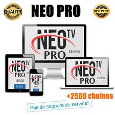 NEO PRO IPTV H.265, 12 mois d'abonnement (ordinateur, smartphone, tv...)
