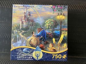 NEW Disney Thomas Kinkade Beauty and the Beast Painting Puzzle - 750 Pieces