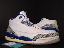 2001 Nike Air Jordan III 3 Retro WHITE TRUE BLUE CEMENT GREY RED 136064-141 11
