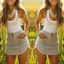 Fashion Womens Summer Beach Sleeveless Party Evening Mini Dress Short Dress Top