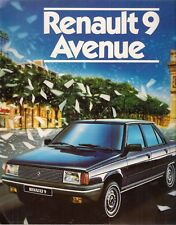 Renault 9 Avenue Limited Edition 1984 UK Market Sales Brochure