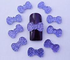 10pcs x 3D Nail Art *Sparkly Crystal Bows* Decoration Mix Cabochon Nail Craft
