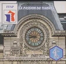 TIMBRE BLOC FFAP N°6  85eme CONGRES PARIS 2012