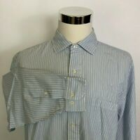 Brooks Brothers 346 Regular Fit Striped Long Sleeve Button Front Shirt 17 6/7
