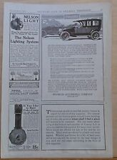 Vintage 1911 magazine ad for Franklin autos - Easy on Tires - Air Cooling